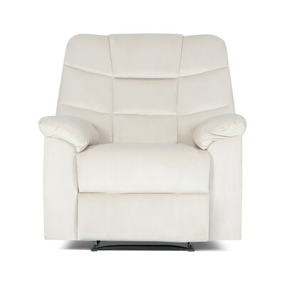 Ducharme Contemporary Padded Manual Recliner Color: Cream