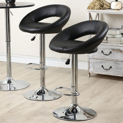 Wella 32 Swivel Bar Stool Upholstery: Black