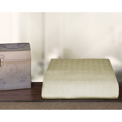Ultra Soft Cotton Blanket Color: Cream, Size: Twin