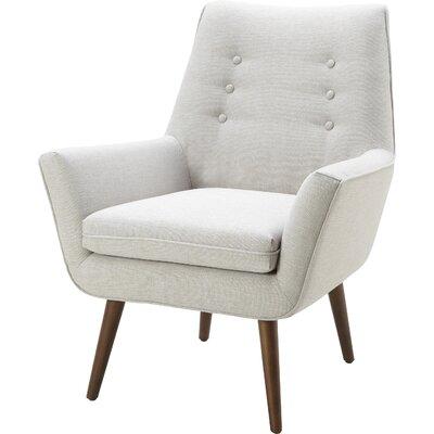 Milo Armchair Upholstery: Sunday Silver