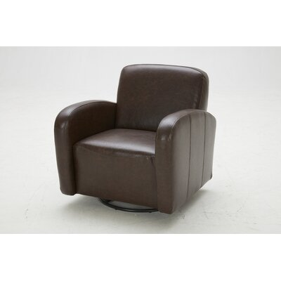Commonwealth Swivel Club Chair Upholstery: Glamour Brown