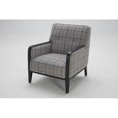 Charham Armchair Finish: Black Washed Distressed