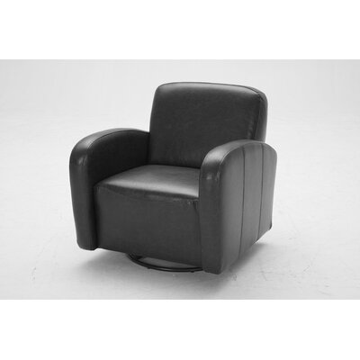 Commonwealth Swivel Club Chair Upholstery: Glamour Black