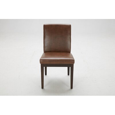 Parsons Chair (Set of 2) Upholstery: Tri Tone Brown