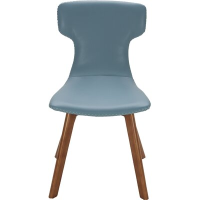 Parsons Upholstered Dining Chair (Set of 2) Color: Blue