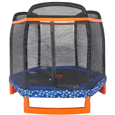 "88.5"" Hexagon Indoor/Outdoor Trampoline with Safety Enclosure JP07-H01-88"