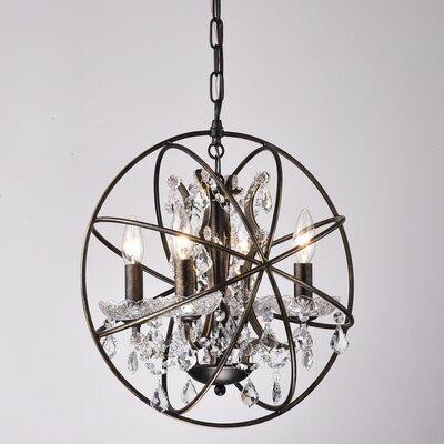 Carlo 4-Light Globe Pendant