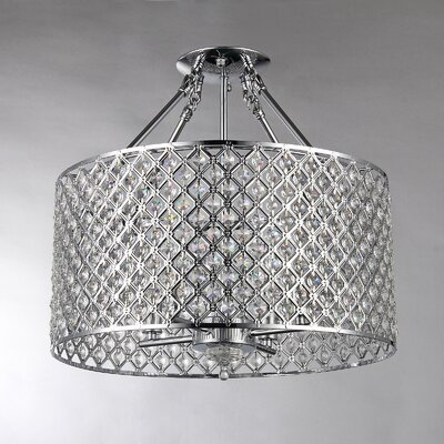 Afaura 4-Light Crystal Chandelier