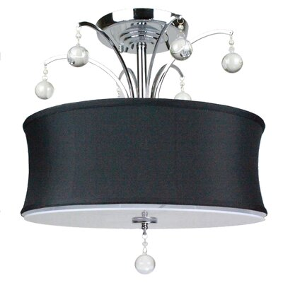 Afaura 5-Light Semi-Flush Mount