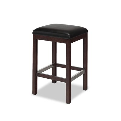 Edison 30 inch Bar Stool Upholstery: Black