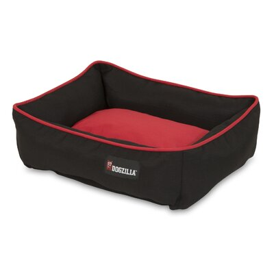 Rectangular Lounger Dog Bed Color: Red/Black