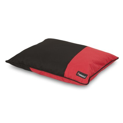 Dog Pillow Bed Color: Red/Black