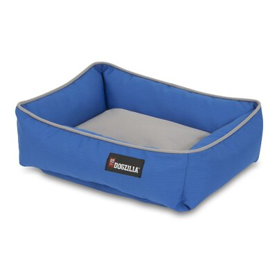 Rectangular Lounger Dog Bed Color: Blue/Gray