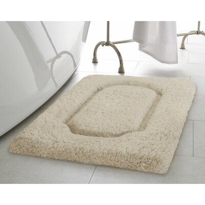 Blossom Premium Extra Plush Race Track 2 Piece Bath Rug Set Color: Oatmeal