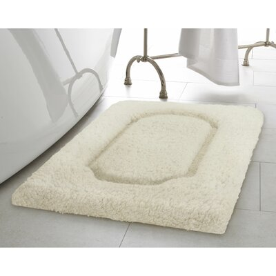 Blossom Premium Extra Plush Race Track 2 Piece Bath Rug Set Color: Ivory