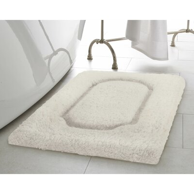 Blossom Premium Extra Plush Race Track 2 Piece Bath Rug Set Color: White