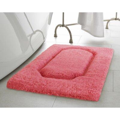 Blossom Premium Extra Plush Race Track 2 Piece Bath Rug Set Color: Coral