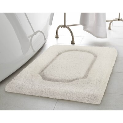 Blossom Premium Extra Plush Race Track Bath Rug Color: White, Size: 32 x 20