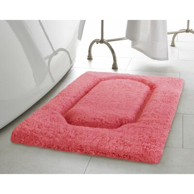 Blossom Premium Extra Plush Race Track Bath Rug Color: Coral, Size: 32 x 20