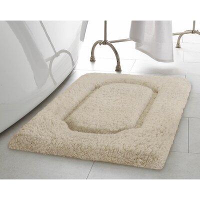Blossom Premium Extra Plush Race Track Bath Rug Color: Oatmeal, Size: 24 x 17
