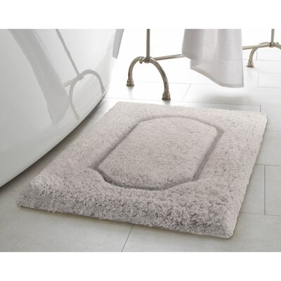 Blossom Premium Extra Plush Race Track Bath Rug Color: Light Gray, Size: 24 x 17