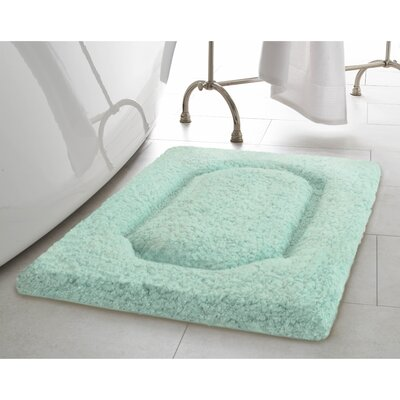 Blossom Premium Extra Plush Race Track Bath Rug Color: Duck Egg, Size: 24 x 17