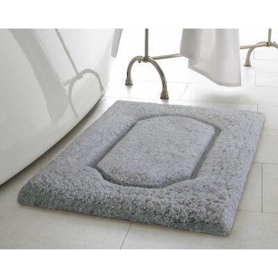 Blossom Premium Extra Plush Race Track Bath Rug Color: Dark Grey, Size: 24 x 17