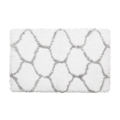 Alfred Chunky Shag Gray/White Area Rug
