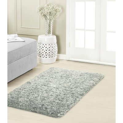 Hexham Plush Gray Area Rug Rug Size: 2 x 3