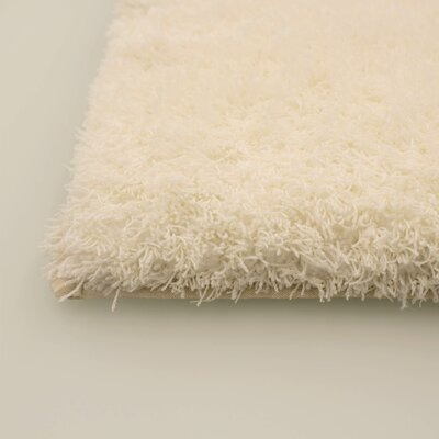 Hexham Shag Ivory Area Rug Rug Size: 2 x 3