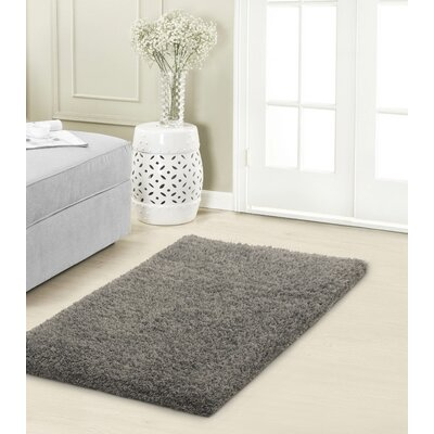 Hexham Shag Gray Area Rug Rug Size: 23 x 39