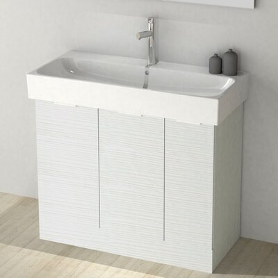 One4One 40 Single Vanity Set Base Finish: Larch White
