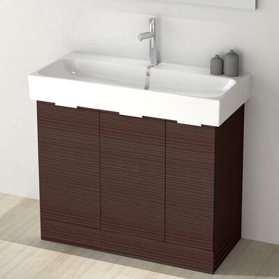 One4One 40 Single Vanity Set Base Finish: Larch Brown