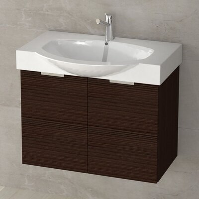Kalboza 28 Single Vanity Set Base Finish: Larch Brown