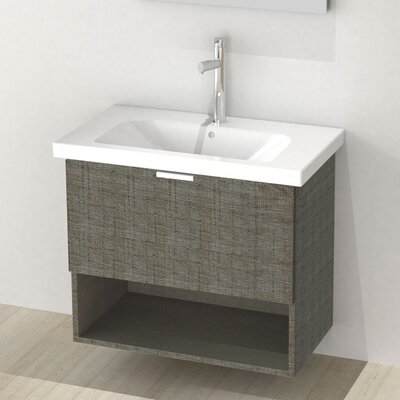 Open 32 Single Vanity Set Base Finish: Gray Oak