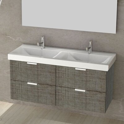 Double Fun 47 Double Vanity Set Base Finish: Gray Oak