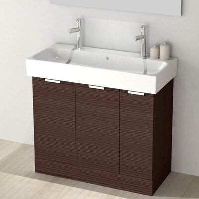 One4Two 40 Single Vanity Set Base Finish: Larch Brown