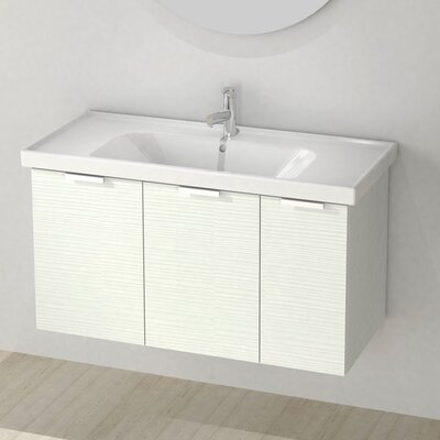 Lamlooma 39 Single Vanity Set Base Finish: Larch White