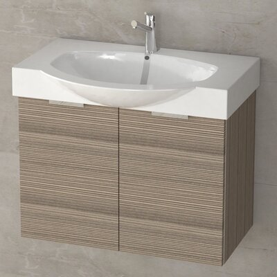 Kalboza 28 Single Vanity Set Base Finish: Larch Canapa