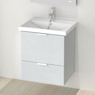 Medi 24 Single Vanity Set Base Finish: Sherwood White