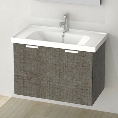 Lamlooma 31 Single Vanity Set Base Finish: Gray Oak