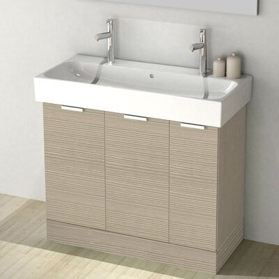 One4Two 40 Single Vanity Set Base Finish: Larch Canapa