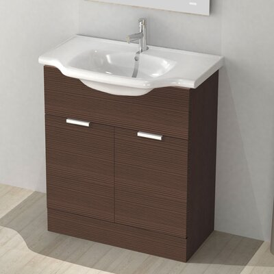 New Classic 32 Single Vanity Set Base Finish: Larch Brown