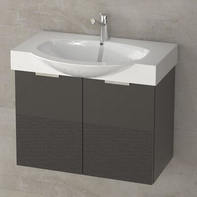 Kalboza 28 Single Vanity Set Base Finish: Glossy Anthracite