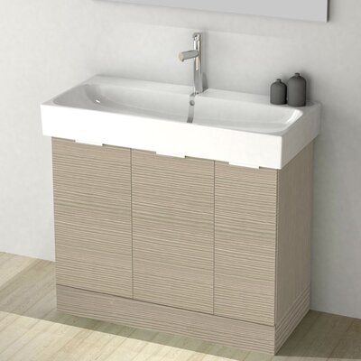 One4One 40 Single Vanity Set Base Finish: Larch Canapa