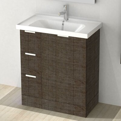 Waloomi 31 Single Vanity Set Base Finish: Gray Oak