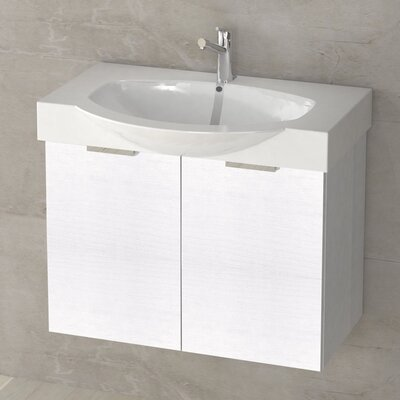 Kalboza 28 Single Vanity Set Base Finish: Sherwood White