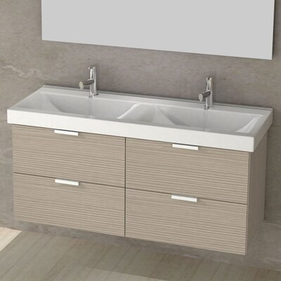 Double Fun 47 Double Vanity Set Base Finish: Larch Canapa