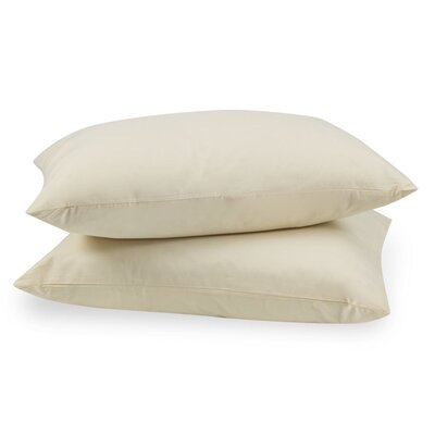 100% Cotton Zippered Pillow Case Size: Queen