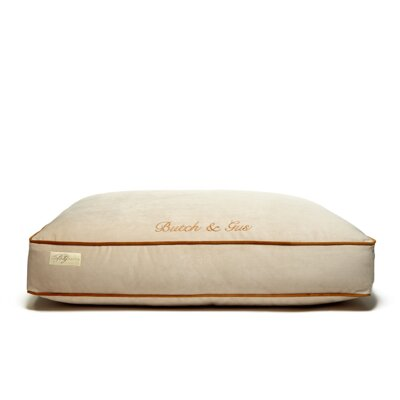 Microsuede Eco Friendly Polyester Fill Cushion Dog Bed Size: Small (34 L x 42 W)